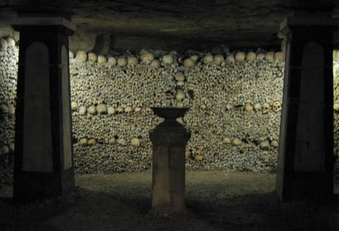 Crypt of the Sepulchral Lamp in the Catacombs of Paris